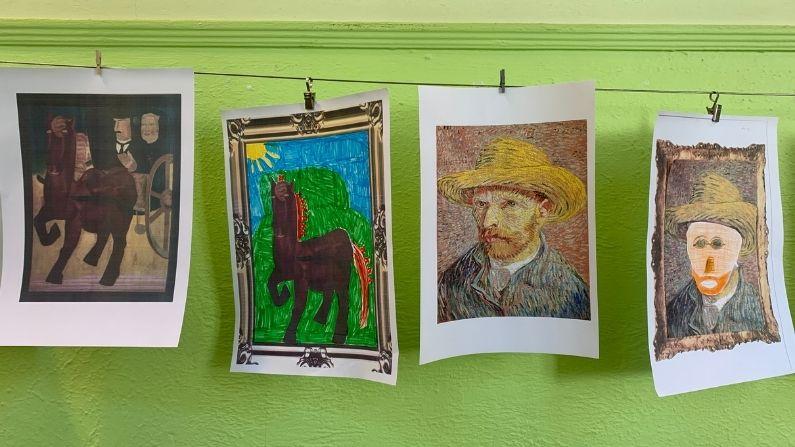 Kindertekening Vincent van Gogh NTC Luxemburg Cultuurdag Kunst